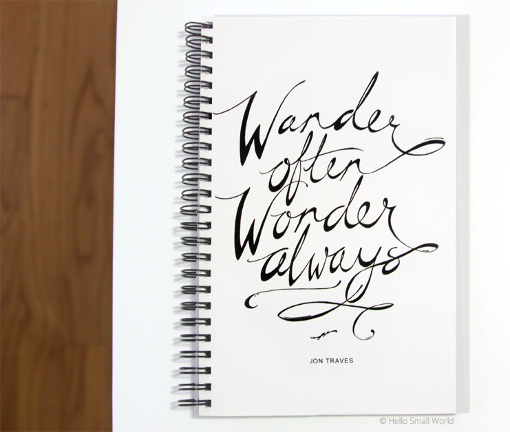 wander often wonder always journal
