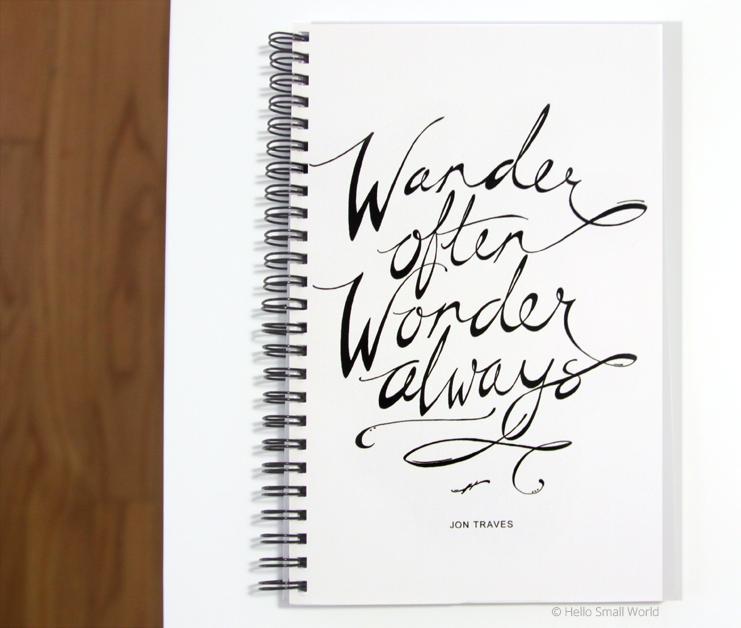 wander often wonder always journal