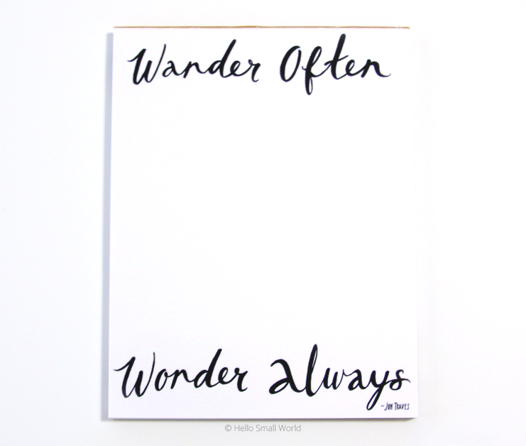 wander often wonder always notepad