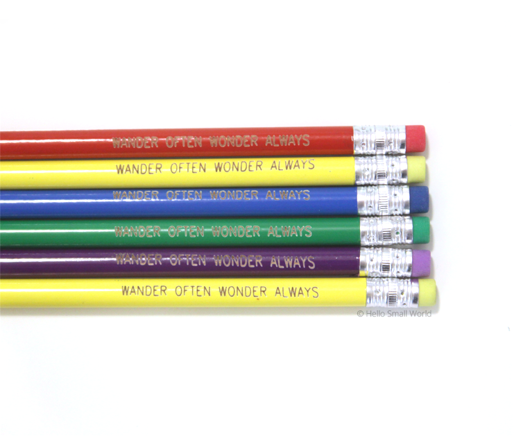 wander often wonder always pencil set multicolor