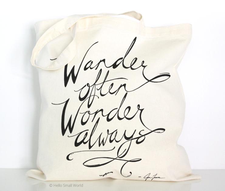 wander often wonder always script tote