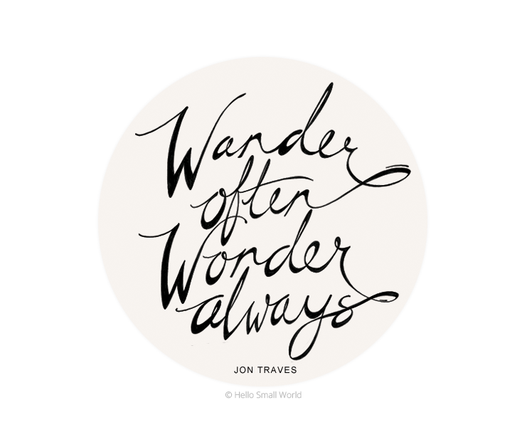 wander often wonder always sticker