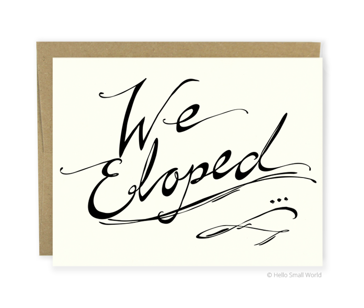 we eloped script card