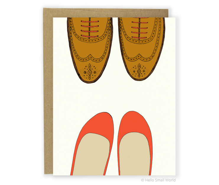 wingtips and flats card
