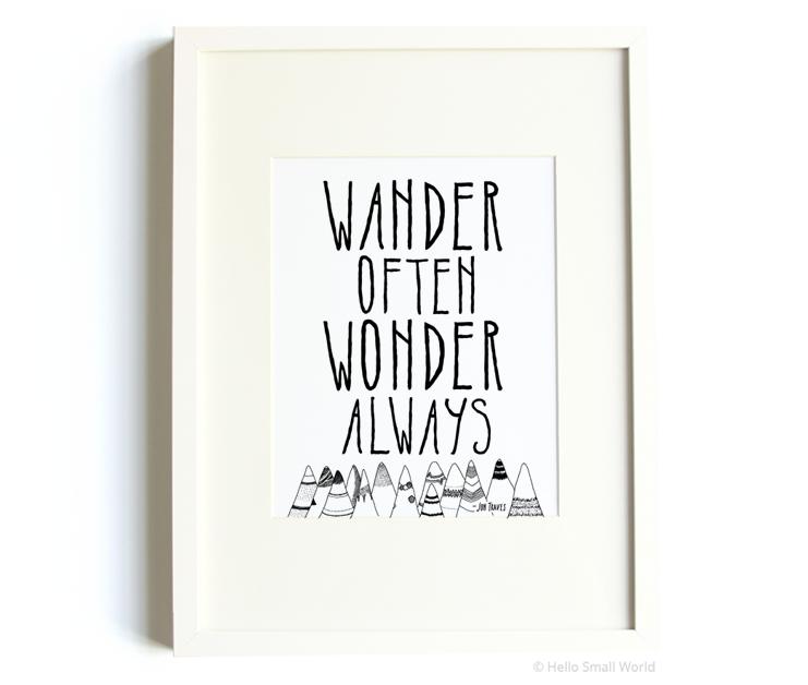 wowa bw mountains 8x10 print