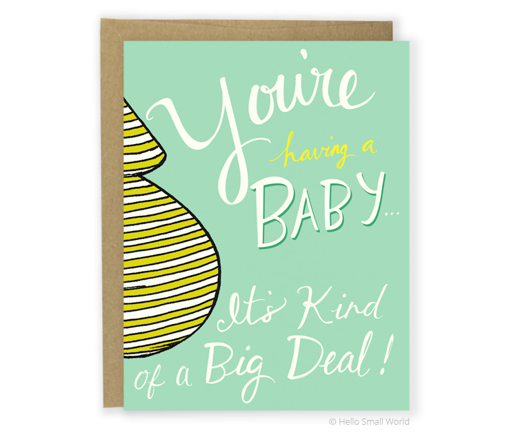 youre baby big deal teal card