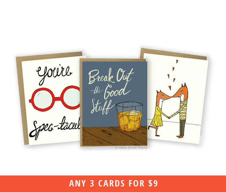 any 3 cards - mix & match bulk savings