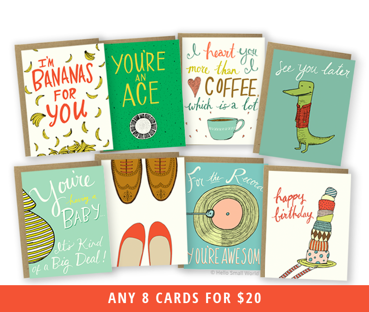 any 8 cards - mix & match cards
