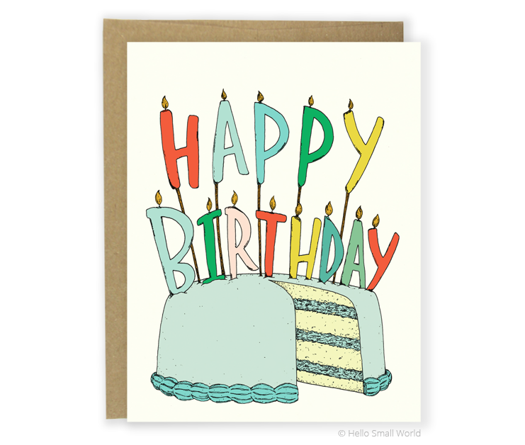 birthday candels card