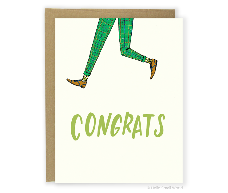 congrats jump for joy card