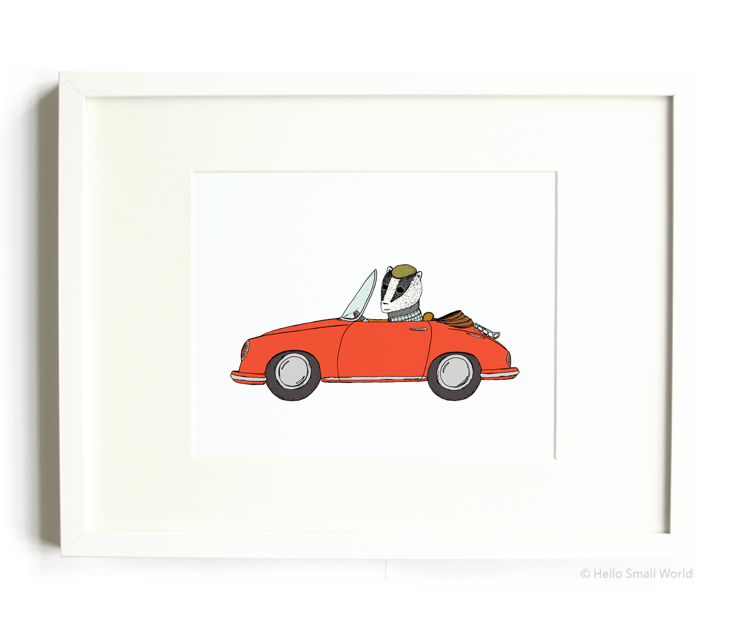 driving badger 8x10 print