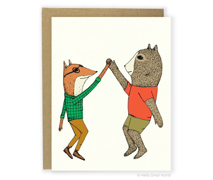 high 5 animals card