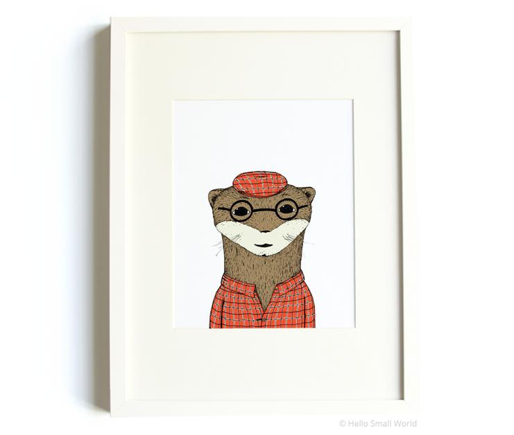mr otter 8x10 print