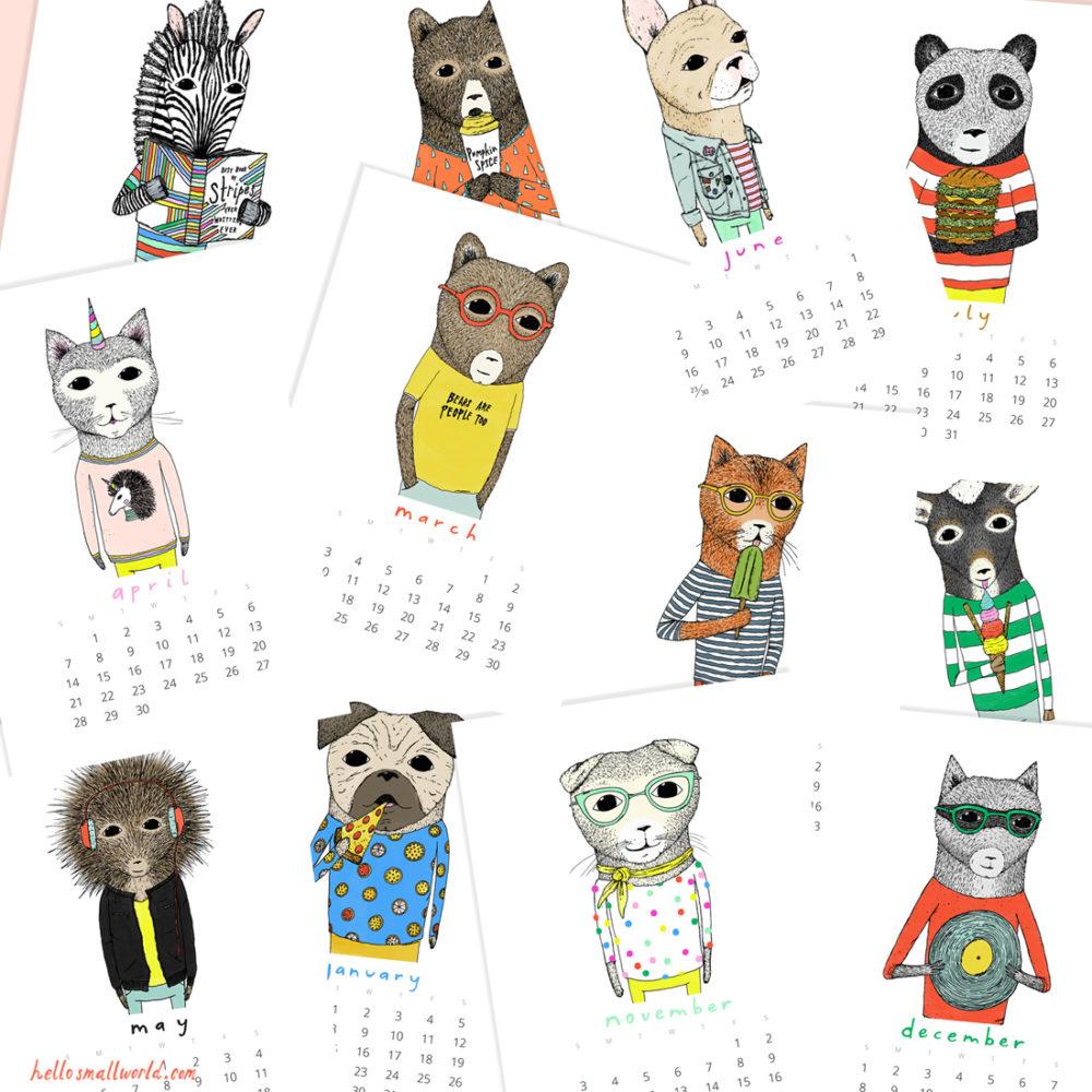 2019 calendar months