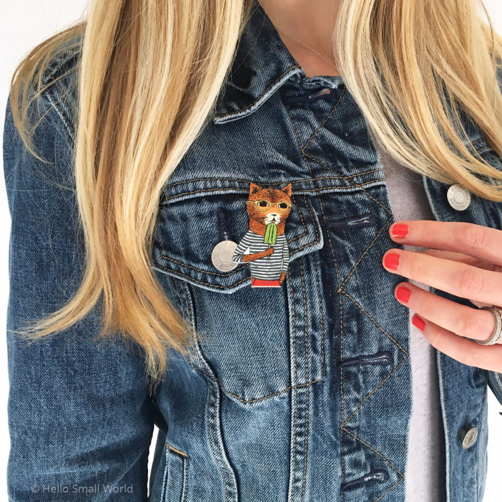 cool cat brooch lifestyle pic