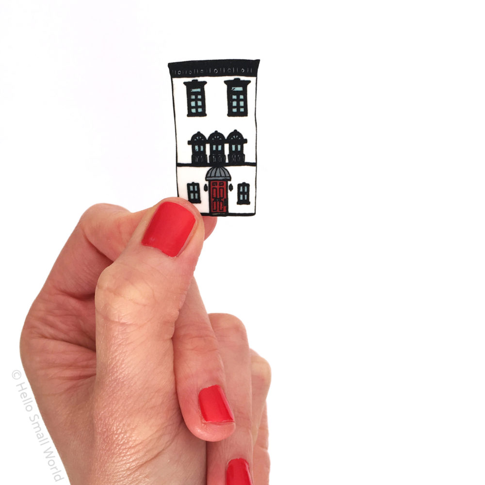 nyc brownstone architecture brooch by hello small world