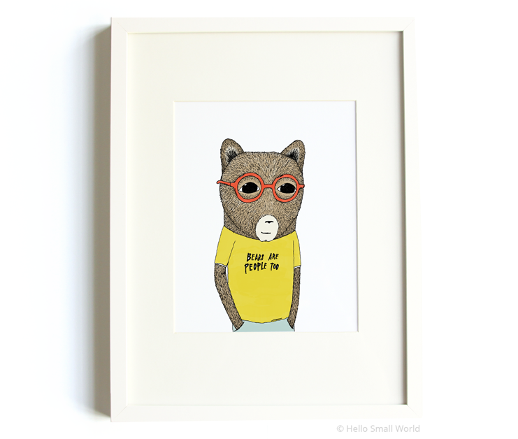 bears are people too 8x10 print