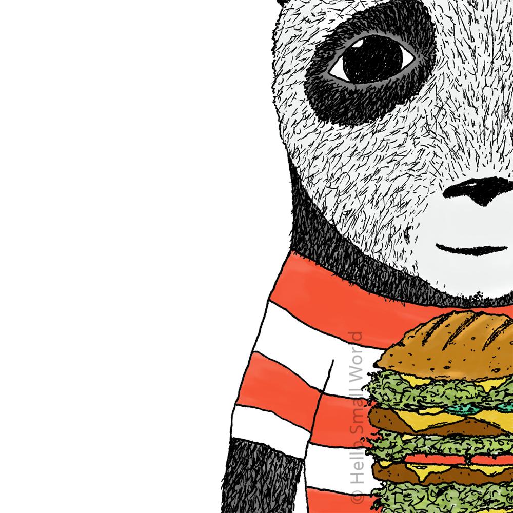 burger panda detail