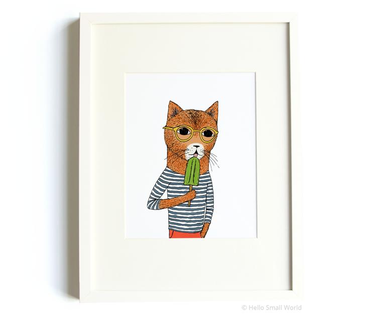 cool cat 8x10 print