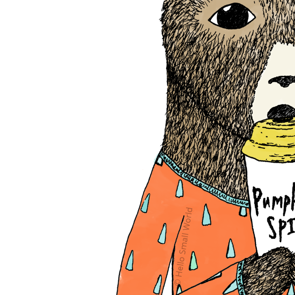 pumpkin spice bear detail