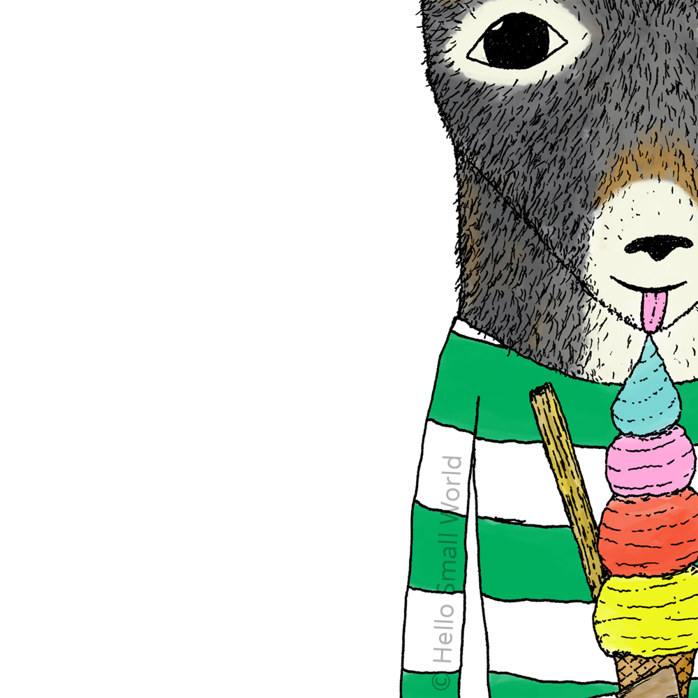 pygmy goat eating ice cream detail