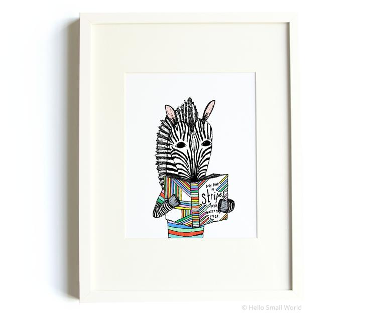reading zebra 8x10 print