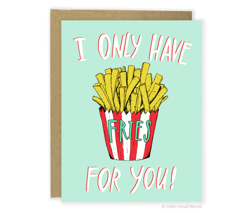 fries for you card