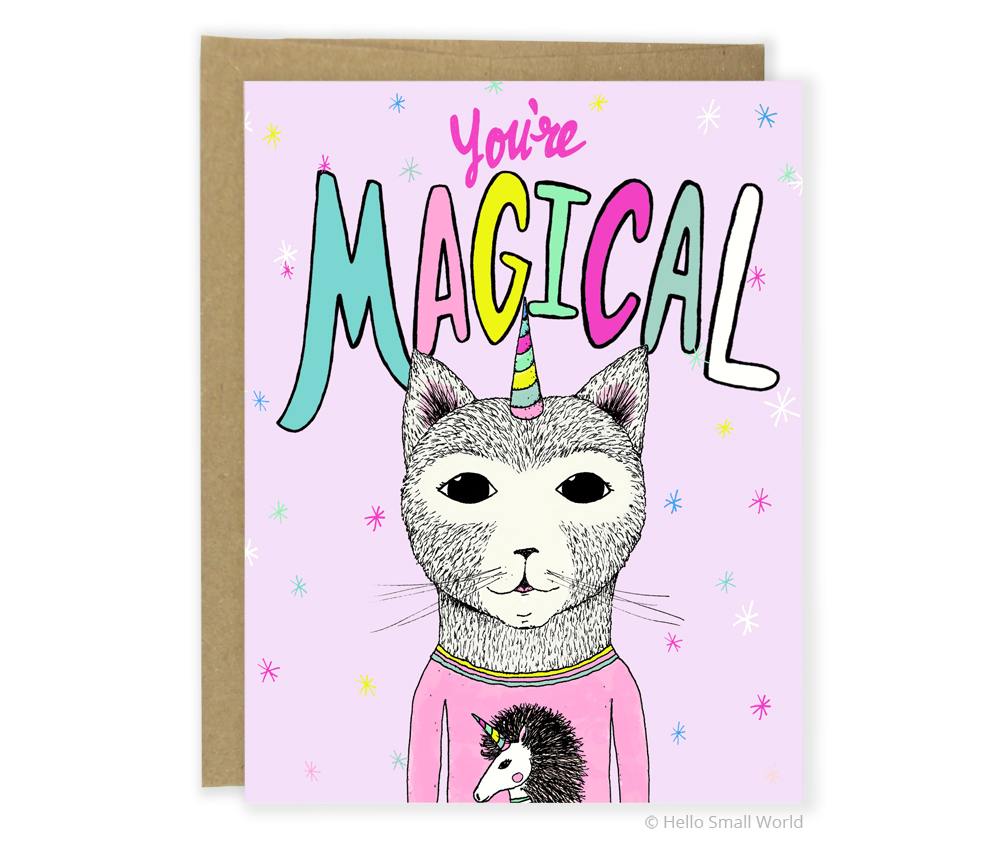 you are magical caticorn card