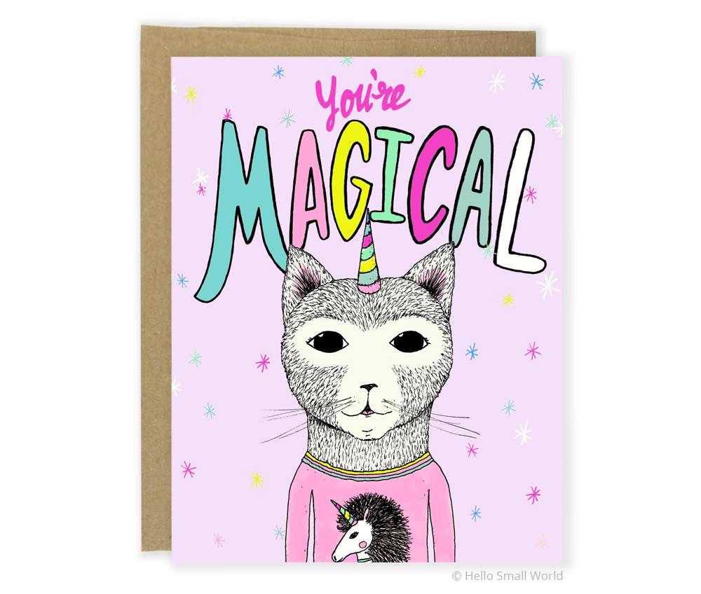 you are magical caticorn card