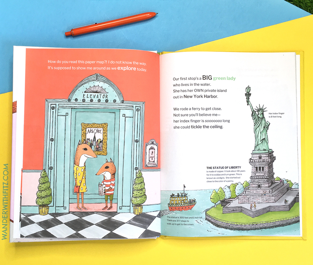 wander new york fitz in the city picture book of NYC