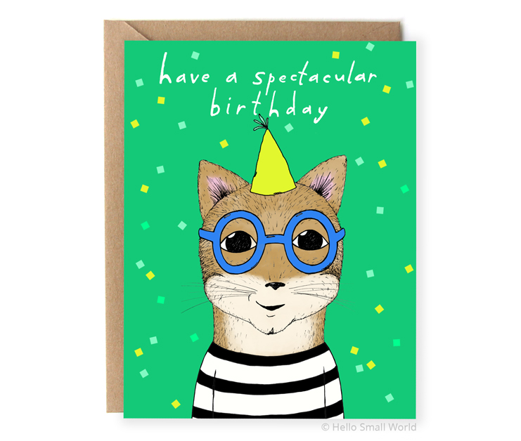 have a spectacular birthday glasses pun card
