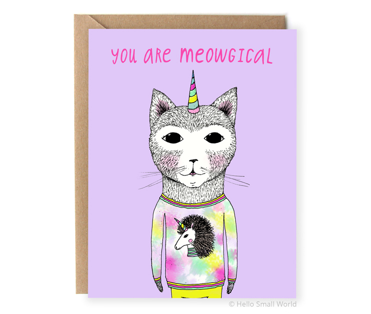 you are meowgical cat pun card