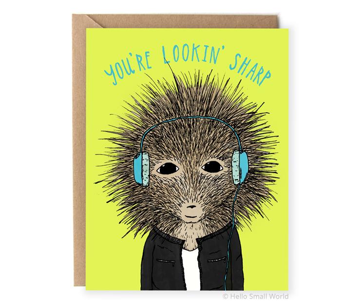 youre lookin sharp animal pun card