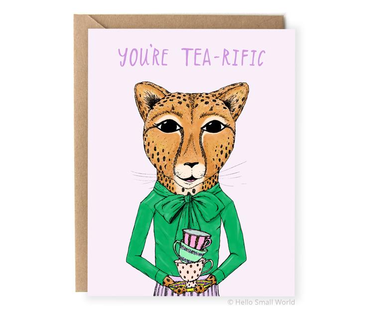 youre tearific tea pun card
